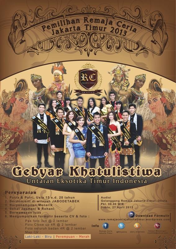 Poster Pemilihan RCJT 2013