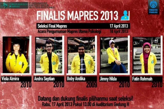 TOP 5 Mahasiswa Berprestasi Psikologi UI 2013
